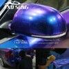 New arrival Chameleon pearl glitter vinyl sticker Dark blue to purple Chameleon car wrap film Pearl glitter diamond vinyl film discount