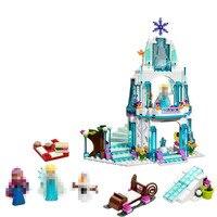 JG301 316pcs Color Box Dream Princess Elsa Ice Castle Princess Anna Set Model Building Blocks For