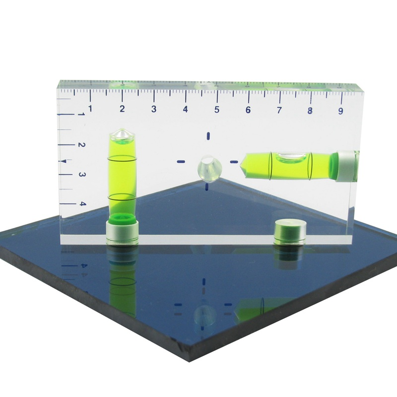 High Precision Transparent Two Direction Magnetic Level Bubble Mini Spirit Level