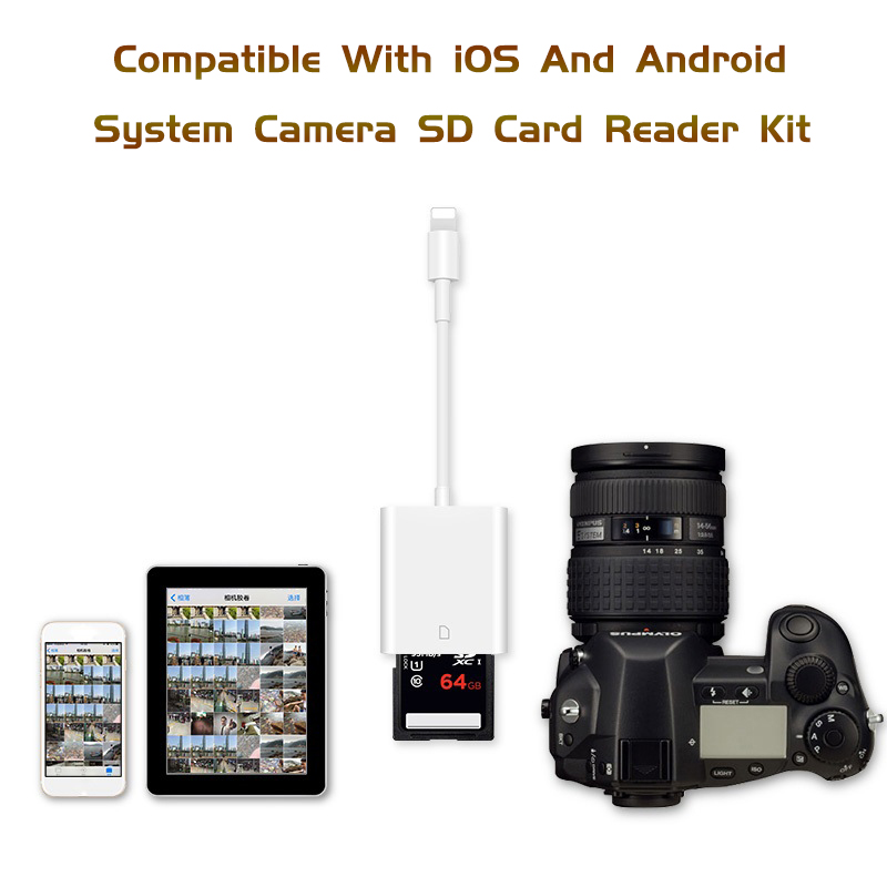 Image 2 - Combo SD Card Reader Digital Camera Kit 256G Support OTG Adapter Cable For iPhone iOS 9.2 Newest iPad Android Device Needn't APP-in Card Readers from Computer & Office