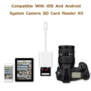 Image 2 - Combo SD Card Reader Digital Camera Kit 256G Support OTG Adapter Cable For iPhone iOS 9.2 Newest iPad Android Device Neednt APP