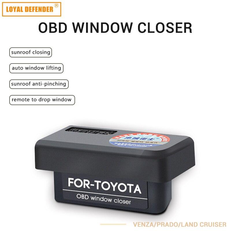 Car auto OBD plug and play window closing&speed lock Auto OBD2 auto window close for Venza/Prado/Land Cruiser