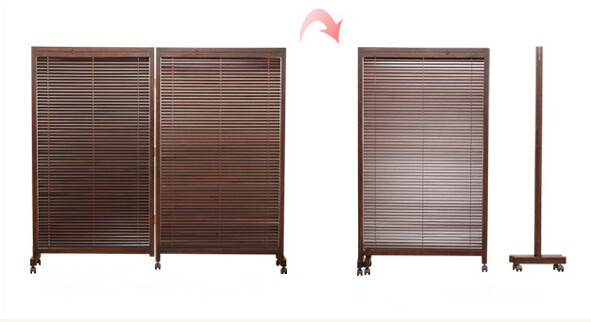 Japanese Folding Screen 2 Panel Wood Room Divider Home Decor