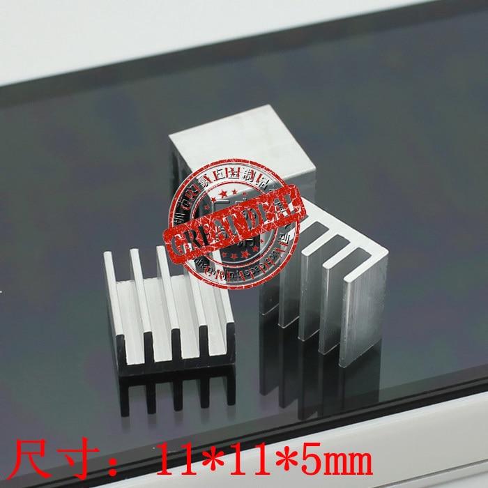 Free Shipping Wholesale 100PCS Aluminum IC Heatsink 11*11*5MM High Quality Thermal Block Radiator