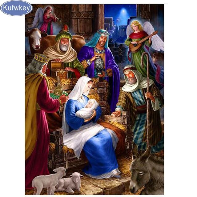 Diy Diamond Paintings Jesus Christ Birth Christmas Diamond