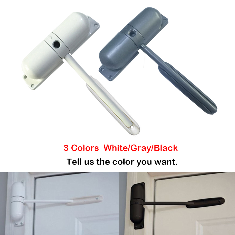 1 Set 20-70kg Generic Zinc Alloy Automatic Mounted Spring Door Closer Auto Gate Spring Adjustable Surface Door Closer цены