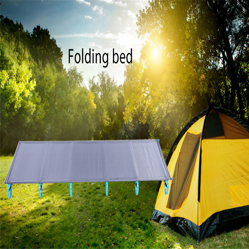 Outdoor Folding Bed font b Camping b font Mat Ultralight Single Bed Cot Sturdy Comfortable Portable
