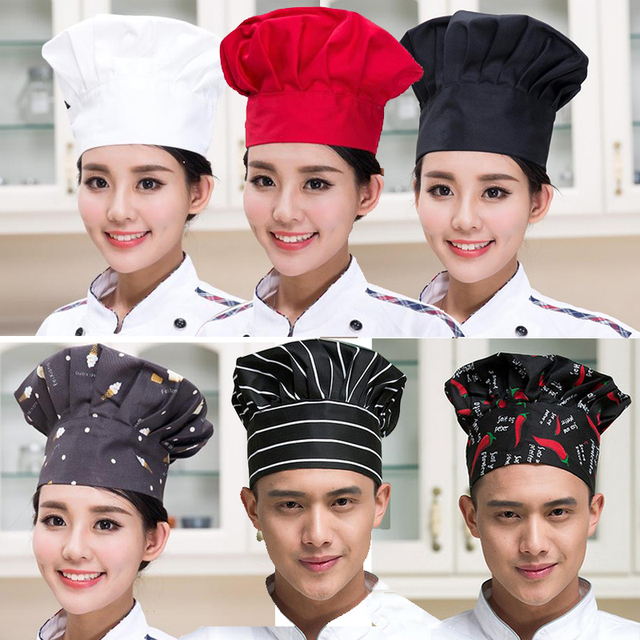 Hotel Restaurant Chef Hat Kitchen Hat Mushroom Hat Flat Cap Unisex Cake  Shop Work Hat Cloth 6b35ca8d785