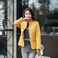 2016 Outono-inverno das Mulheres de algodão acolchoado-down outerwear algodão Fino Casaco acolchoado