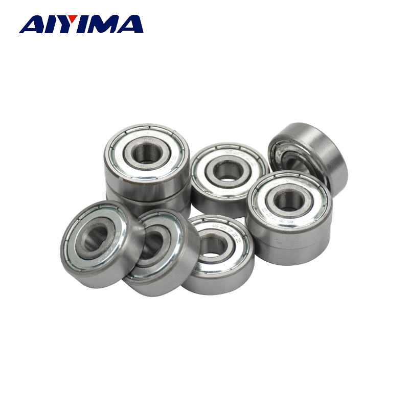 AIYIMA 10pcs Miniature 627Z ZZ Deep Groove Ball Bearing 7*22*7mm Plastic And Iron Cover Toy Bearings 50pcs bearing 627zz 627 2z 7x22x7 627 627z mochu shielded miniature ball bearings mini ball bearing deep groove ball bearings