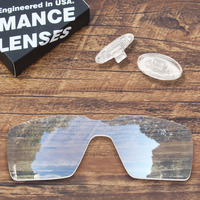 ToughAsNails Resist Seawater Corrosion Clear Replacement Lens and Clear Nose Pads for Oakley Probation