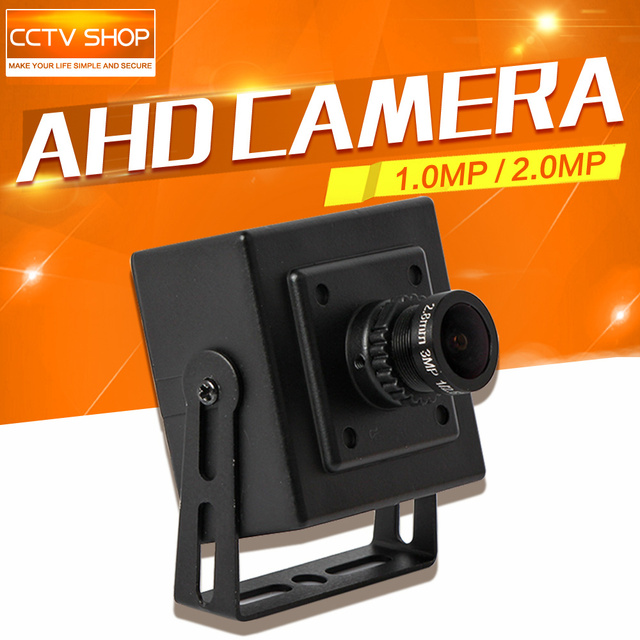 HD 1.0MP 2MP CCTV AHD Camera Security CMOS 720P 1080P Analog 2000TVL Mini AHD Camera 2.8mm Lens Metal Housing Indoor Use Black