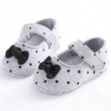 Фирменная Новинка для маленьких девочек Малыш бантом мягкие Нескользящие Детские туфельки принцессы обувь Sapatos Bebe Бесплатная доставка