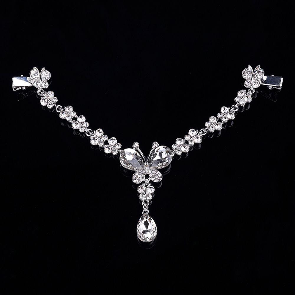 Cristal feminino testa cabeça cabeça headpiece headpiece strass lágrima tiara videiras casamento jóias acessórios de cabelo nupcial