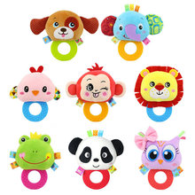 INT'G Baby Rattles And Teethers Baby Plush Toys Stuffed Dolls Toys For Newborns Animal Hand Bells Soft Toys For Babies Infant(China)