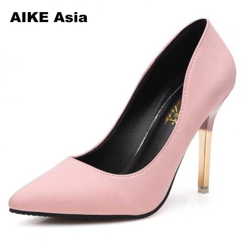 Sexy High Heels Shoes Woman Fashion Women Pumps Wedding Shoes  Bling Gold Shoes Female Party Women Heel Shoes