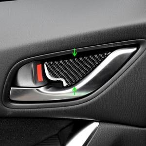 Image 2 - For Mazda3 Mazda6 CX 3 CX 5 CX 8 CX 9 2017 2018 4pcs/set Carbon Fiber Car Door Pull Handle Frame Inner Bowl Cover