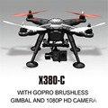 XK X380-C RC Drones Headless Modo 2 Eje cardán RC Quadcopter RTF con 1080 P Cámara y GPS RC simuladores