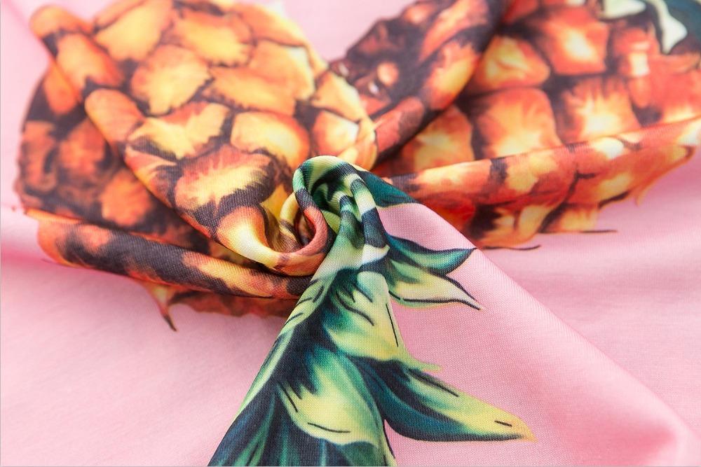 HTB1BkDzQVXXXXapXVXXq6xXFXXXO - Top Hot Sequined Print Pineapple Women t shirt Short Sleeve