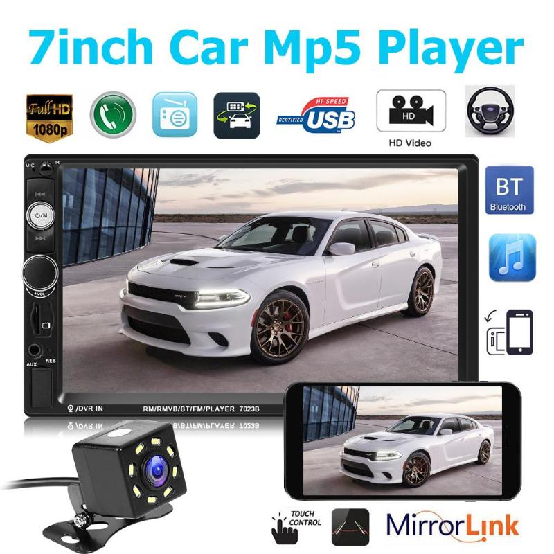 7/'/' Car Radio Bluetooth 2 Din FM Mirror Link MP3 DVR Function Head Unit STereo