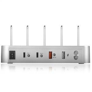 Image 2 - 4 Port USB 3.1 Tipi C Şarj Cihazı 40W Çift PD şarj istasyonu standı masaüstü şarj cihazı Için iphone Samsung Huawei Yerleştirme Istasyonu