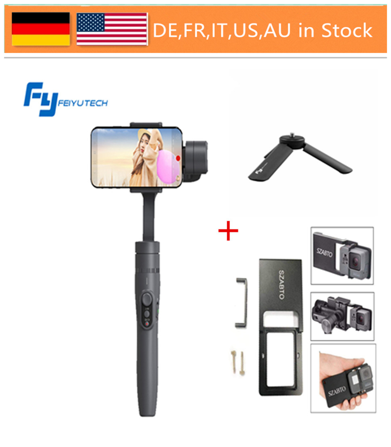 FeiyuTech Vimble 2 Cardan, 3-axe Extensible Smartphone Cardan Stabilisateur pour iPhone X/8/7 Plus/HUAWEI/Samsung Smartphon