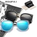Polarized Sun Glasses UV400 Eyeglasses Fashion Spectacles Alloy Top Vintage Cat Eye Female Women Sunglasses