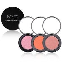 1pc Face Blush Solid Pink Maquiagem Single Color Palette Makeup Blusher Powder Cheek Blendable