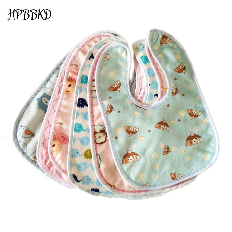 HPBBKD Newborn Baby Waterproof Bibs Cartoon Printing Cotton Newborn Infant Girls Boys Toddler Scarf Bandana Bibs For Kids BB095(China)