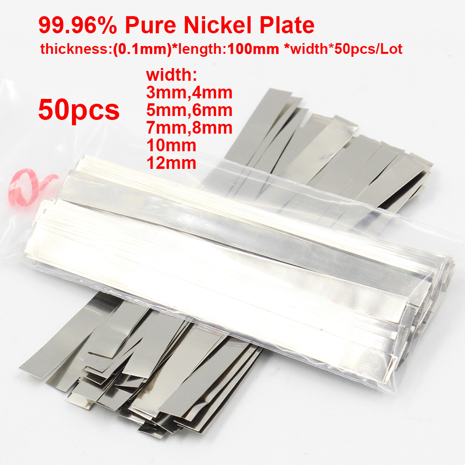 0.1mm x 100 99.96% Pure Nickel Plate Strap Strip Sheets for Battery Spot Welding Machine Welder Equipment|Welding Rods| |  - AliExpress