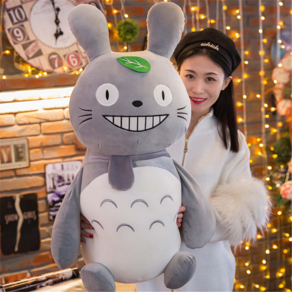 Fancytrader Pop New Totoro Toys Doll Big Giant Stuffed Soft Anime Cats Pillow Gifts for Kids 80cm/60cm fancytrader stuffed anime cat plush toy lovely big soft cats pillow cushion best gifts for birthady xmas