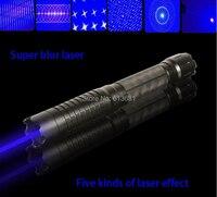 כוח חזק צבאי 450nm 50 w/50000 mw מצביע לייזר אור הכחול הצתה עשן Wicked Lazer לפיד משלוח חינם