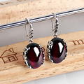 925 Silver Earring Women MARCASITE Yellow chalcedony Garnet S925 Thai Silver boucle d'oreille Drop Earrings