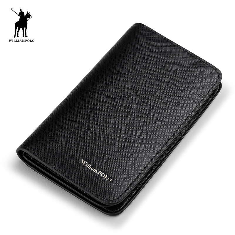 WILLIAMPOLO 2018 Genuine Leather Passport Wallet Travel Wallets Money Purse With Passport Cover And Card Holder Case POLO272 new pu leather passport cover protector fashion alligator embossing travel passport case men women id credit card holder wallet