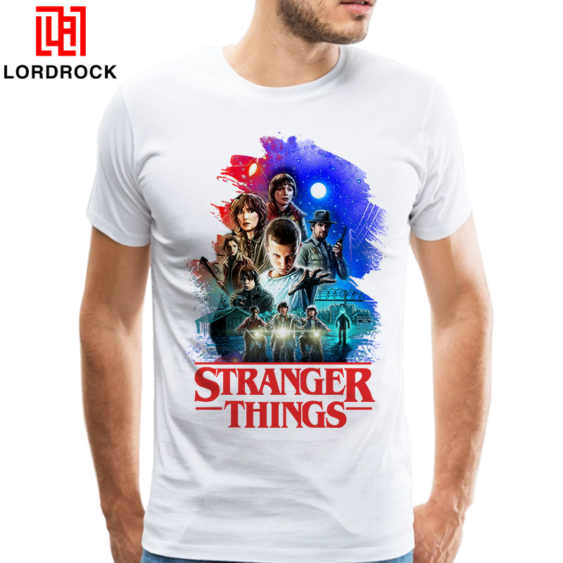 Trendy Stranger Things T-shirts Original Character Design Mens Tshirt Movie Poster T Shirt Summer Fans Top Tee shirt Homme