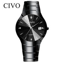 Relogio Masculino Civo Heren Horloges Top Brand Luxe Waterdichte Analoge Datum Horloge Vrouwen Mannen Quartz Horloge Voor Mannen Klok