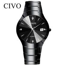 レロジオmasculino civoメンズ腕時計トップブランドの高級防水アナログ日付腕時計女性メンズクォーツ時計男性時計