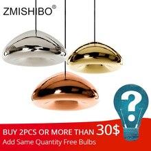 ZMISHIBO современная стеклянная подвеска лампы 110-240 V E27 G4 Хром золотой красный Бронзовый крепление на потолок для жизни Спальня обеденный