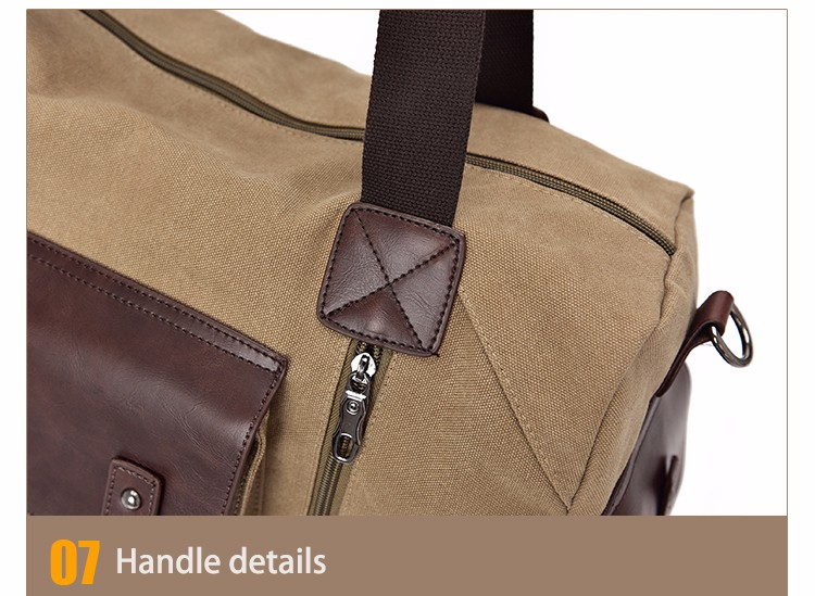 Famous Brand Men Vintage Canvas Men Travel Bags Women Weekend Carry On Luggage & Bags Leisure Duffle Bag Large Capacity Handbags (38)