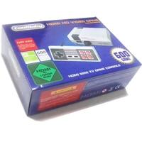 5 unids/lote HDMI Out Retro Clásico reproductor de juegos portátil TV Familia consola de videojuegos de La Niñez Incorporado 600 Juegos de nes mini HDMI