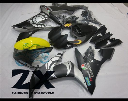 Motorcycle Fairings For yamaha r1 2004 2005 2006 YZF-R1 04 05 06 YZFR1 YZF R1 Body part fairing (Injection molding)2004-206 upper front fairing cowl nose fits for yamaha 2004 2005 2006 yzf r1 injection mold abs plastic