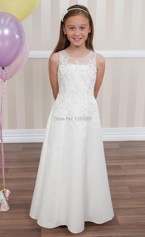 Vestidos sencillos de nina para bodas