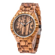 Fashion Wooden Quartz Watch Men Roman Numerals Casual Wood Dress Watch Women Luxury Brand Design relogio