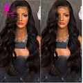 Virgin Malaysian Human Hair Silk Top Lace Front Wig Body Wave Full Lace Human Hair Wig With Baby Hair 8A Glueless Lace Wig