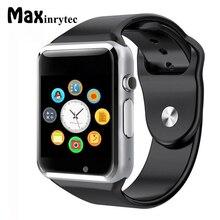 Дешевые Maxinrytec A1 Bluetooth Smart часы шаг подсчета Спорт инструмент удаленного Камера и синхронизации Функция для Android мобильного телефона
