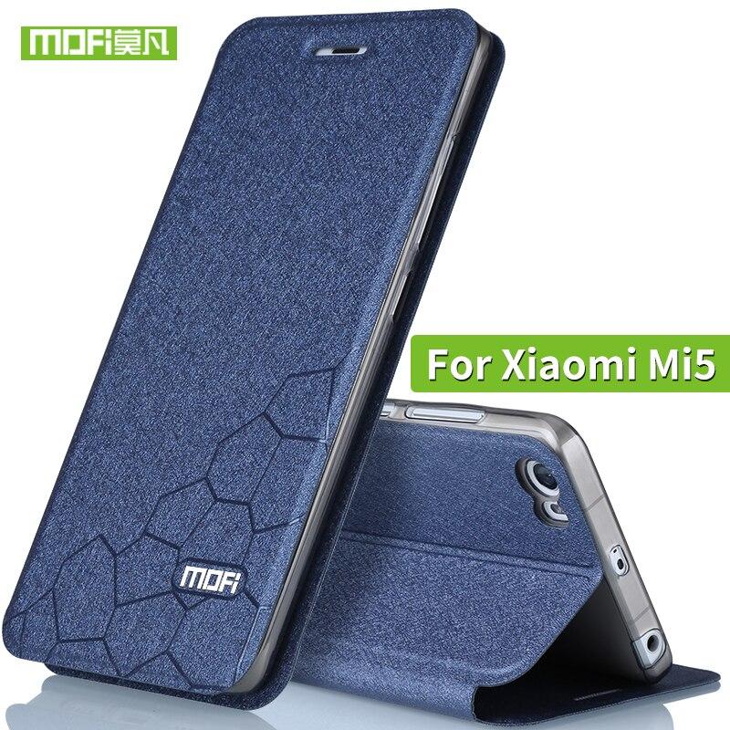 High Quality For Xiaomi Mi 5 Leather Case Flip Cover Silicone MOFi Original Xiaomi Mi5 Phone