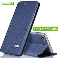 High Quality For Xiaomi Mi 5 Leather Case Flip Cover Silicone MOFi Original Xiaomi Mi5 Phone