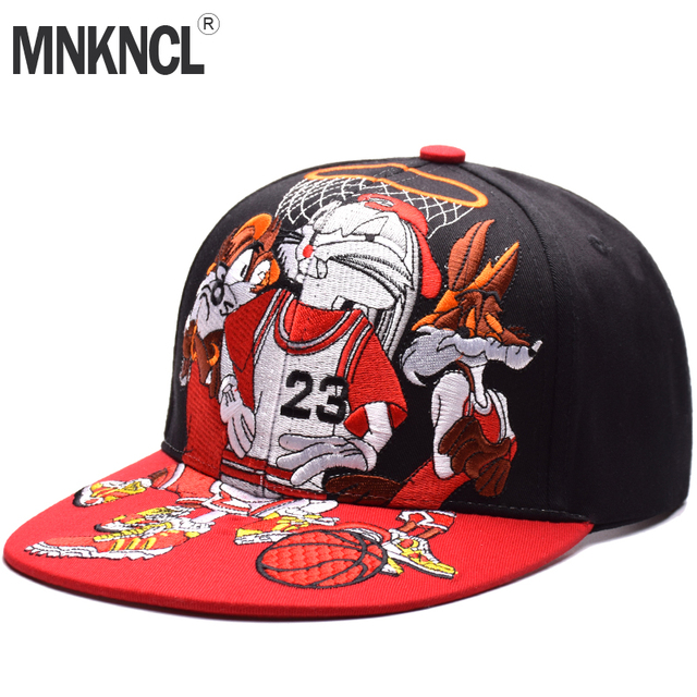 dce33a45d58 MNKNCL High Quality Snapback Cap Rabbit Embroidery Brand Flat Brim Baseball  Cap Fashion Hip Hop Cap and Hat For Men and Woman