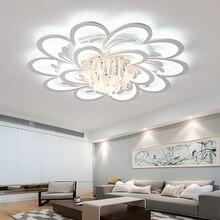 LICAN современные светодиодные потолочные лампы для спальни гостиной lustre de plafond современный светодиодный потолочный светильник с кристаллами