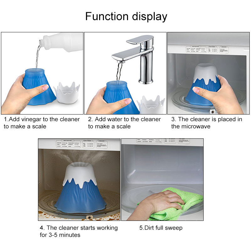 Volcano Erupting Microwave Cleaner Made with Food Grade PP Material for Cleaning Dirt and Stains 2